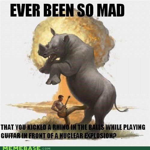 artist cool crotch explosion guitar Memes rhino - 5254865920