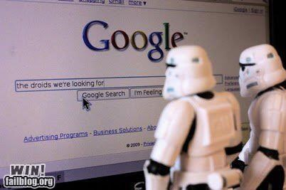 droids,google,nerdgasm,search engine,star wars,stormtrooper
