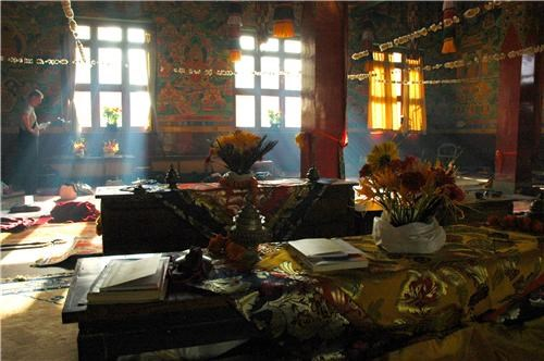 asia buddhism dim lighting getaways nepal tibetan monastery - 5255178240