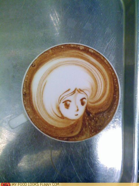 best of the week coffee foam art funny food photos latte art - 5255275264