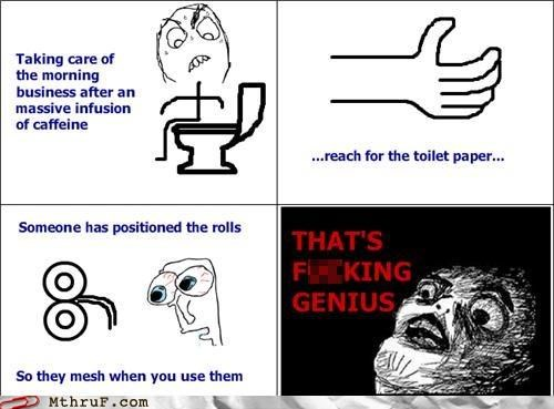 bathroom comic rage comic toilet paper TP - 5255298816