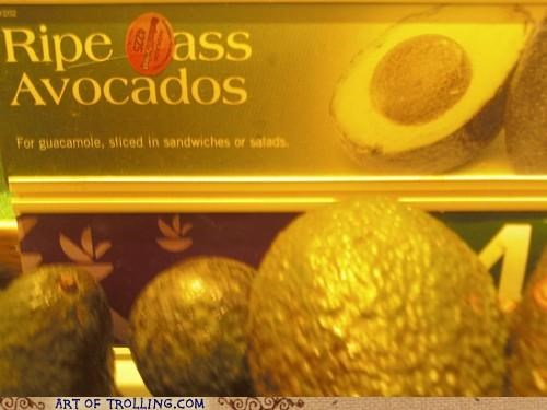 avocado hass IRL sign sticker - 5255306496