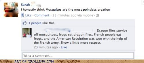 Bad Translator facebook food chain mosquito respect