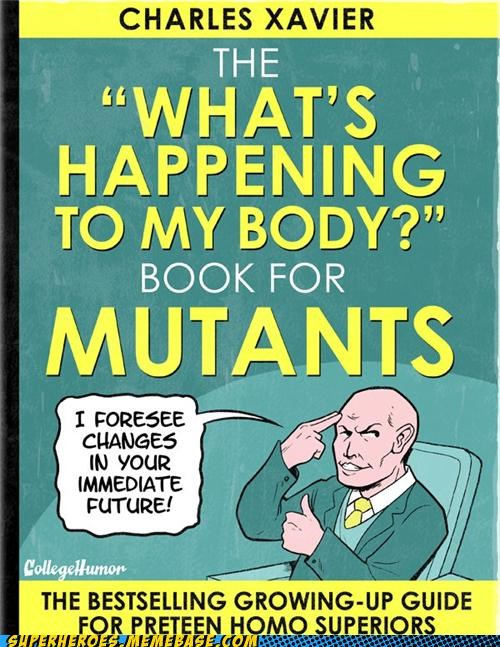 best of week,college humor,mutants,professor x,puberty,Random Heroics