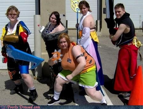 cosplay,final fantasy,parking lot