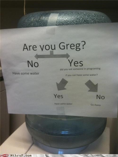 break room breakroom flowchart programming sign water cooler - 5255547136