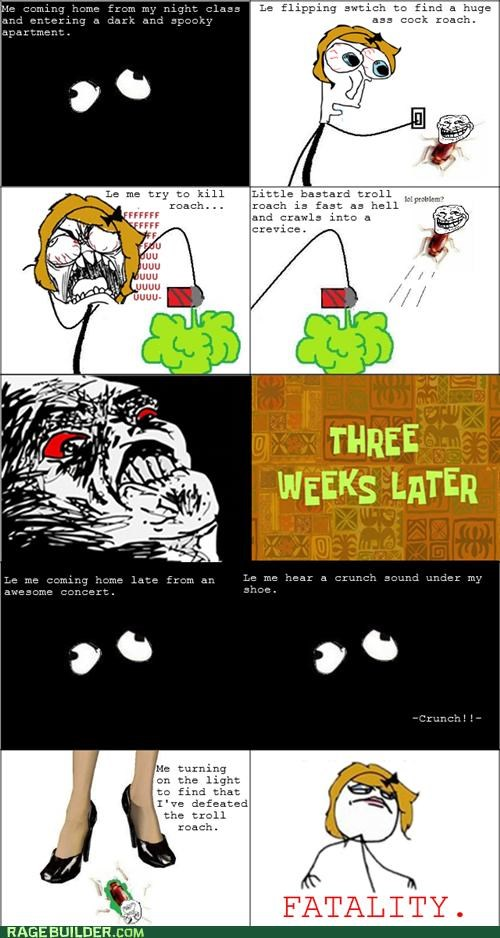 cockroach,gross,Rage Comics,squish