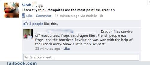 mosquitos pointless win witty reply