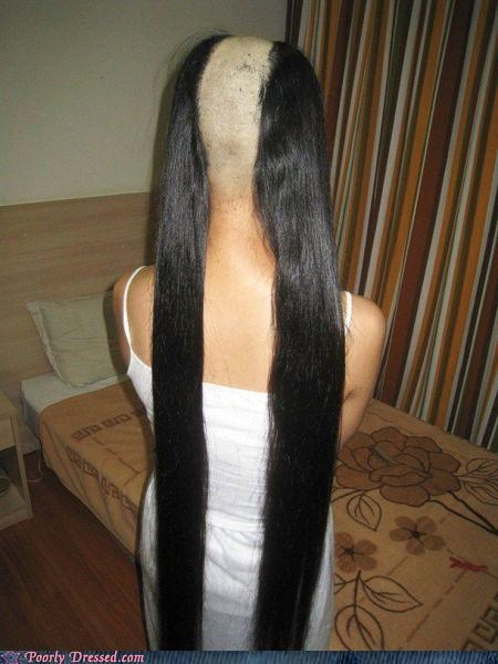 hair head pigtails shaved - 5255684608