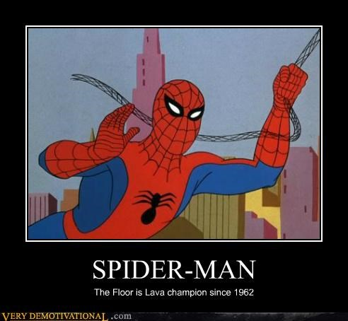 champ,floor is lava,hilarious,Spider-Man