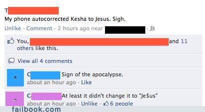 autocorrect,jesus,keha,witty reply