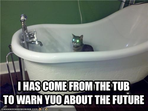 animals bathrooms bathtubs Cats future I Can Has Cheezburger the future wtf - 5256000768