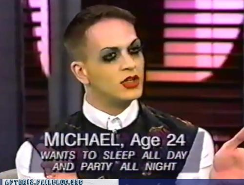 ask,michael,Party,party all the time,sleep