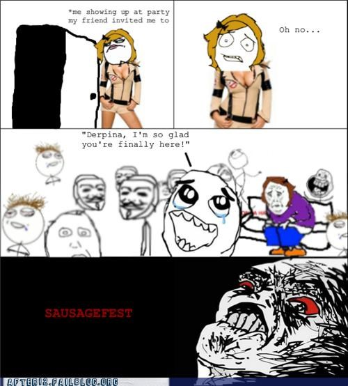 dudes ladies odd one out oh no Party Rage Comics sausage fest - 5256054272