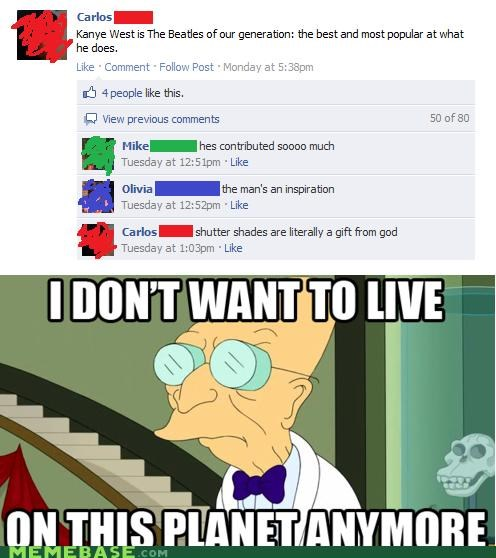 beatles,generation,i dont want to live on this planet anymore,kayne west,Music