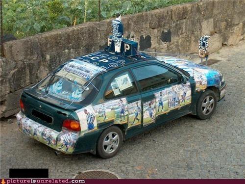 car creepy soccer wtf - 5256135168