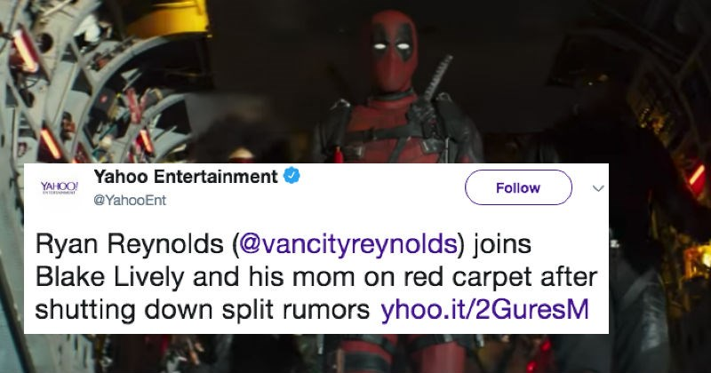 twitter deadpool parenting ryan reynolds funny win - 5256197