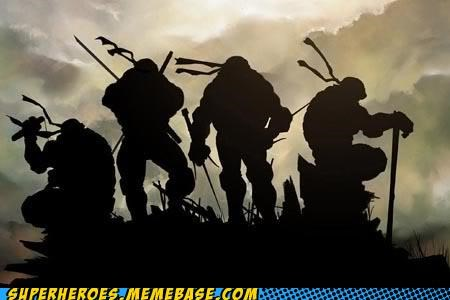 Awesome Art best of week silhouette TMNT - 5256237312