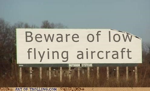 aircraft,broken,IRL,sign