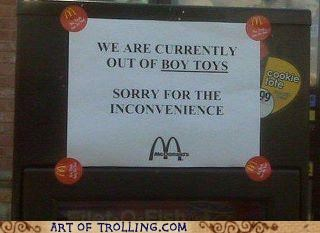 boy toys IRL McDonald's sign - 5256350720