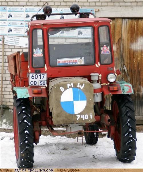 bmw IRL tractor weird
