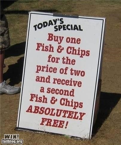 advertising,business,clever,food,free stuff,sign