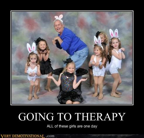 GOING TO THERAPY ALL of these girls are one day