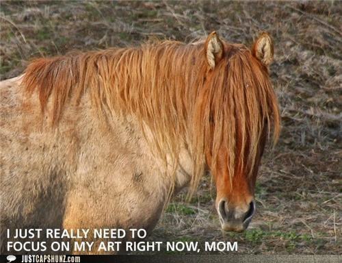 animals art emo hair horses I Can Has Cheezburger mom - 5257009664