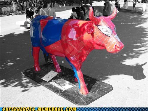 art cow Random Heroics Spider-Man wtf - 5257029376