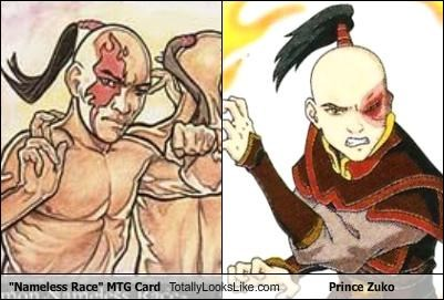funny mtg card nameless race prince zuko TLL