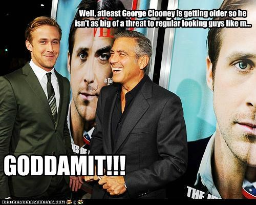 actor celeb funny george clooney Hall of Fame Ryan Gosling - 5257389568