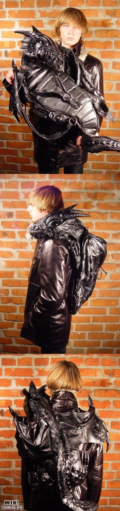 backpack design dragon fashion Hall of Fame nerdgasm wait what - 5257416448