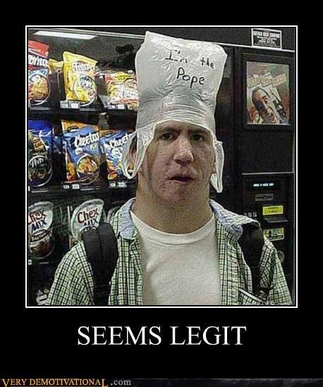 hilarious pope seems legit - 5257460480