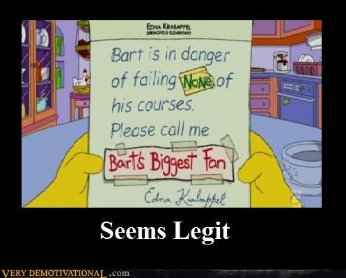 bart hilarious seems legit simpsons - 5257577472