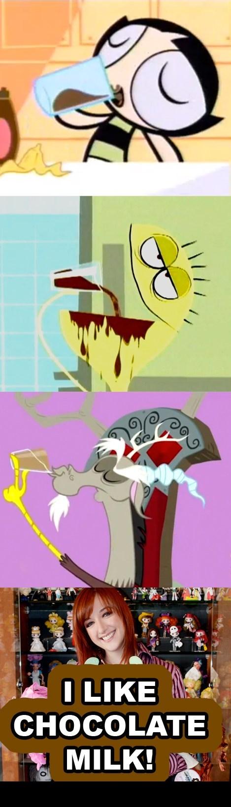 lauren faust chocolate milk cartoons - 5257677568