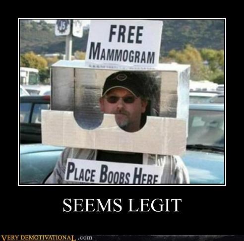 hilarious lady bags mammogram seems legit - 5257742080