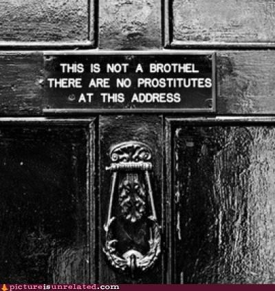 brothel door seems legit wtf
