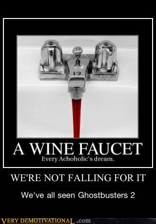 faucet,ghostbusters 2,hilarious,sink,wine