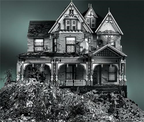 abandoned house art house lego mike doyle Toyz victorian house victorian on mud heap - 5258548736