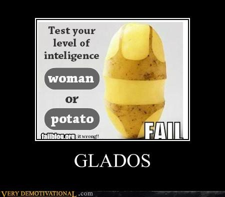 gladOS,hilarious,potato,woman,wtf