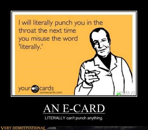e card hilarious literally punch - 5258673920