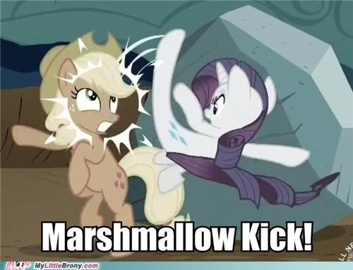 applejack marshmallow kick meme rarity rockity season 2 tom - 5258741504