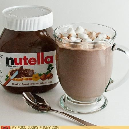 drink hot chocolate nutella recipe - 5258776832
