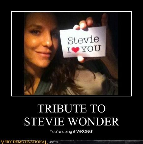 blind,hilarious,stevie wonder,tribute,wrong