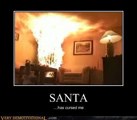 cursed fire hilarious santa - 5258882048