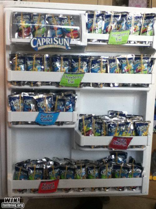 capri sun drink fridge juice Office party time - 5258995968