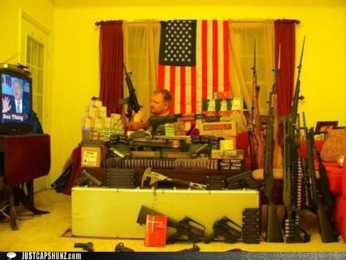 america American Flag caption contest guns stockpile TV weapons wtf - 5259104256