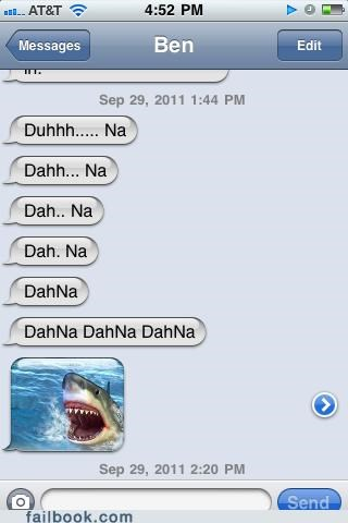 iphone whale,jaws,shark,stupid but funny,theme,witty