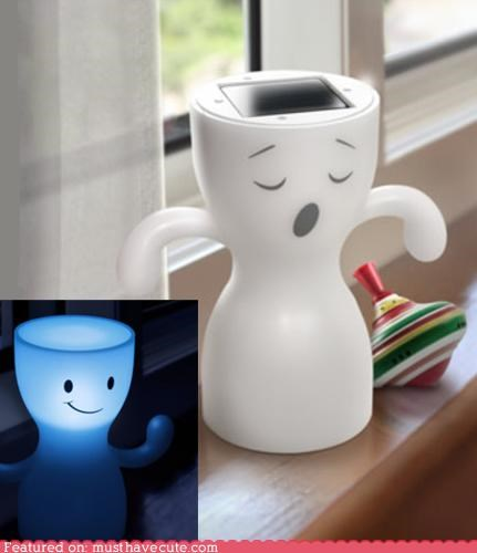 cute ghosts happy night light sleeping smile solar power