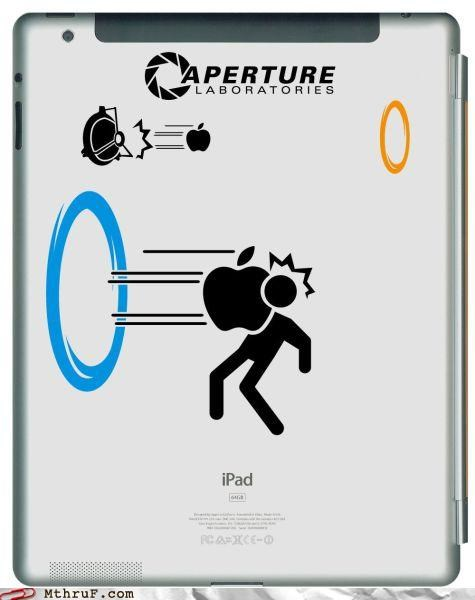 apple,decal,ipad,Portal,portal 2
